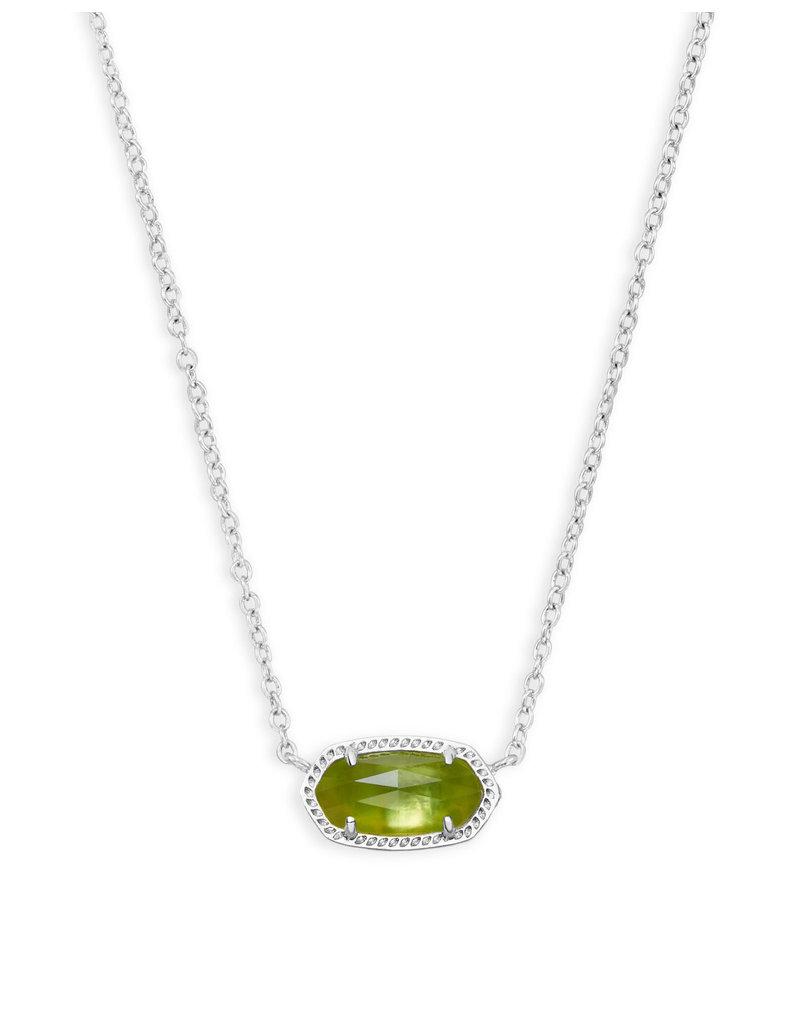 KENDRA SCOTT Elisa necklace rhod peridot illusion 4217717622
