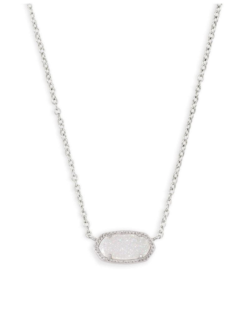 KENDRA SCOTT Elisa necklace rhod iridescent drusy 4217711459