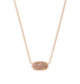 KENDRA SCOTT Elisa necklace rose gold drusy