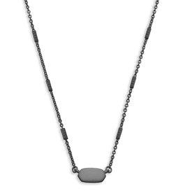 KENDRA SCOTT Fern necklace black gnat 4217716834