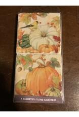 Pumpkin patch 4 pc coaster set