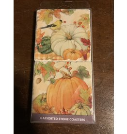Pumpkin patch 4 pc coaster set