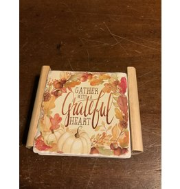 Ivory Autumn coaster set