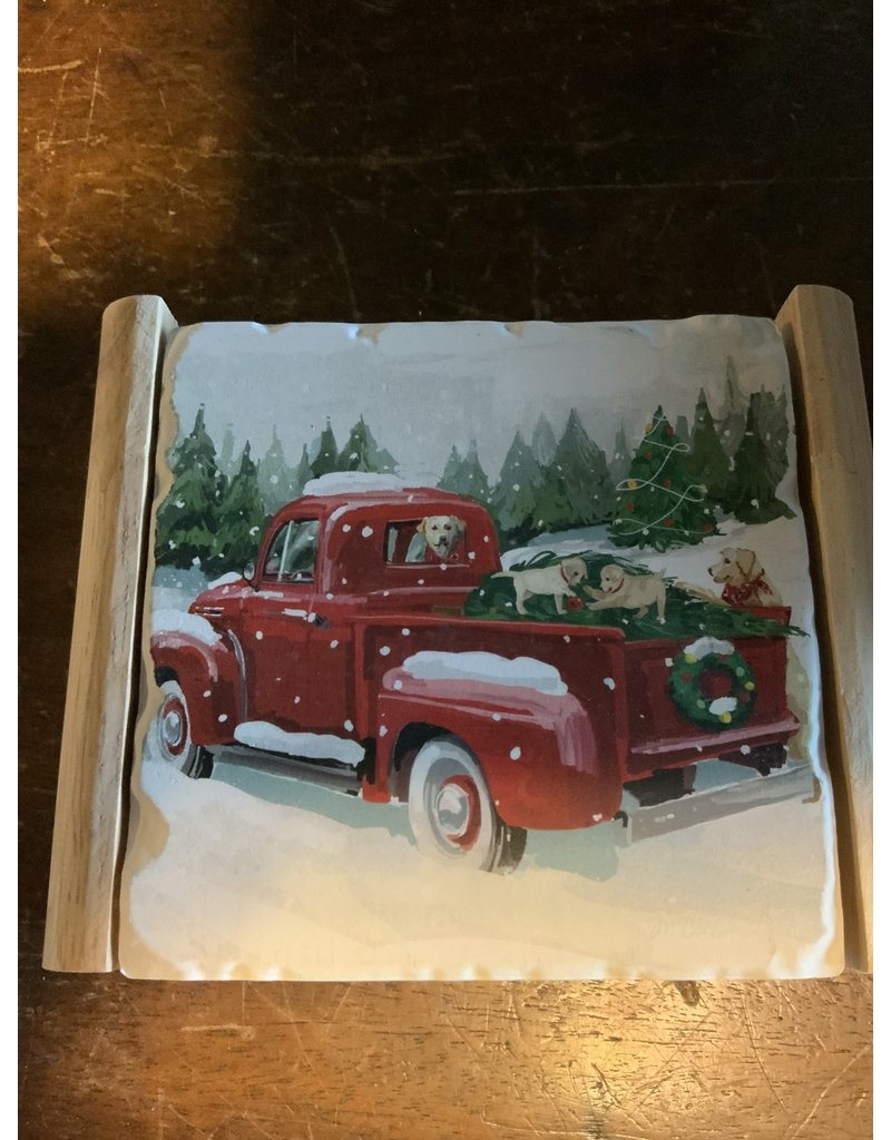 Winter truck coaster set