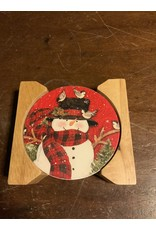 Paisley snowman coaster set