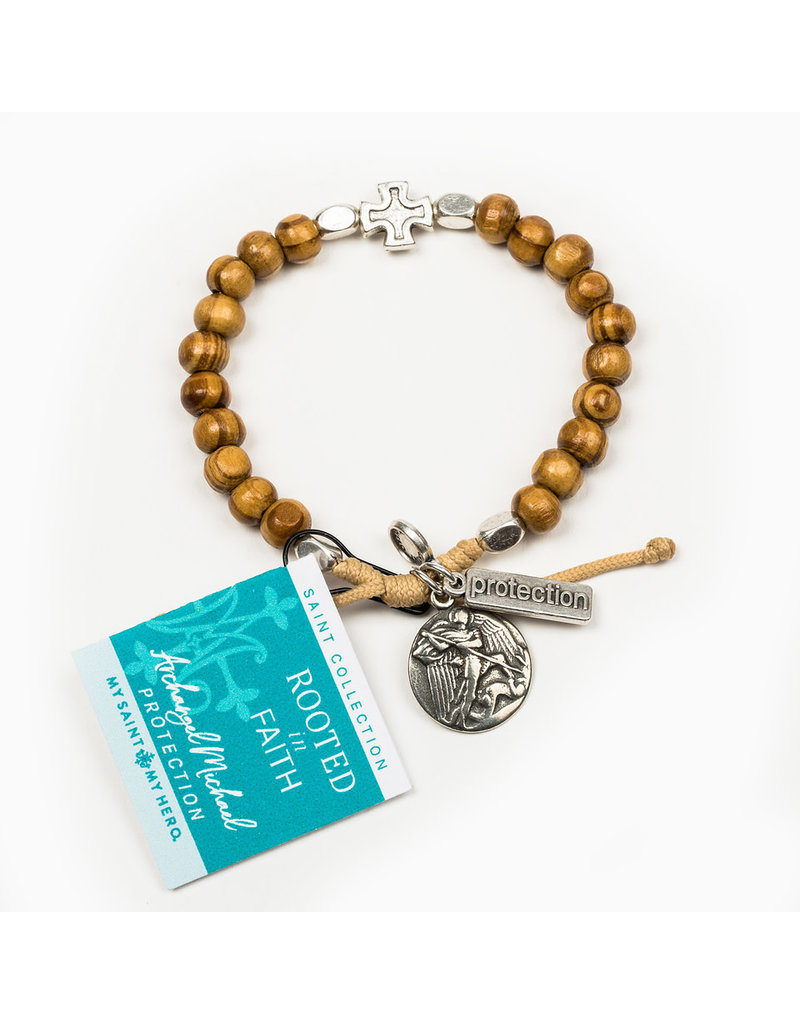 MY SAINT MY HERO Rooted in faith protection bracelet