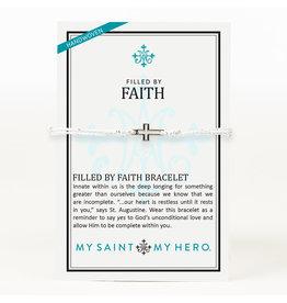MY SAINT MY HERO Filled by faith open cross Bracelet