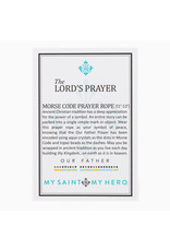 MY SAINT MY HERO Lord's Prayer Morse Code Prayer Rope Necklace