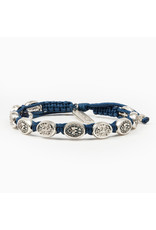 MY SAINT MY HERO Protection Archangel Michael bracelet blue/silver