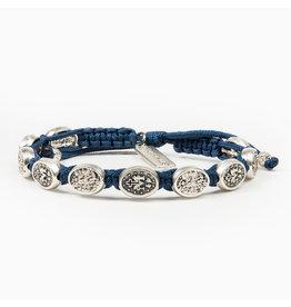 MY SAINT MY HERO Protection Archangel Michael bracelet blue/silver