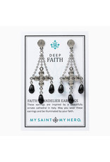 MY SAINT MY HERO Deep faith chandelier earrings
