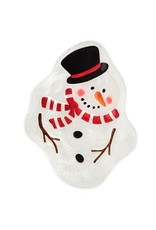 Melting snowman plate y7578