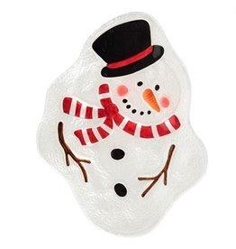 Melting snowman plate y7578