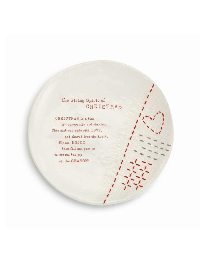 Christmas giving plate