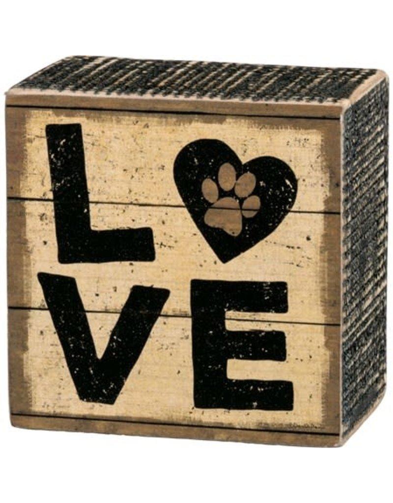 none Box Sign - Love 33721