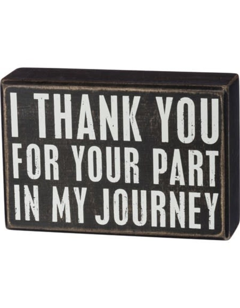 Box Sign - My Journey 37610