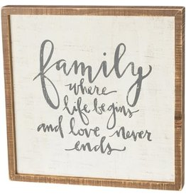 none Inset Box Sign - Family 37623