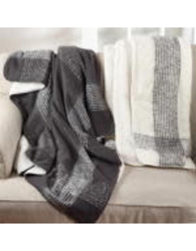 Faux Mohair Sherpa Throw Grey - TH120.GY5060