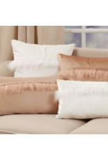 "Velvet Faux Fur Pillow White 12""x20"" - 9116.W1220BP"