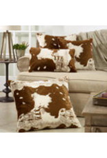 """Faux Fur Cow Hide Pillow 14""""x22"""" - 471.BR1422B"""