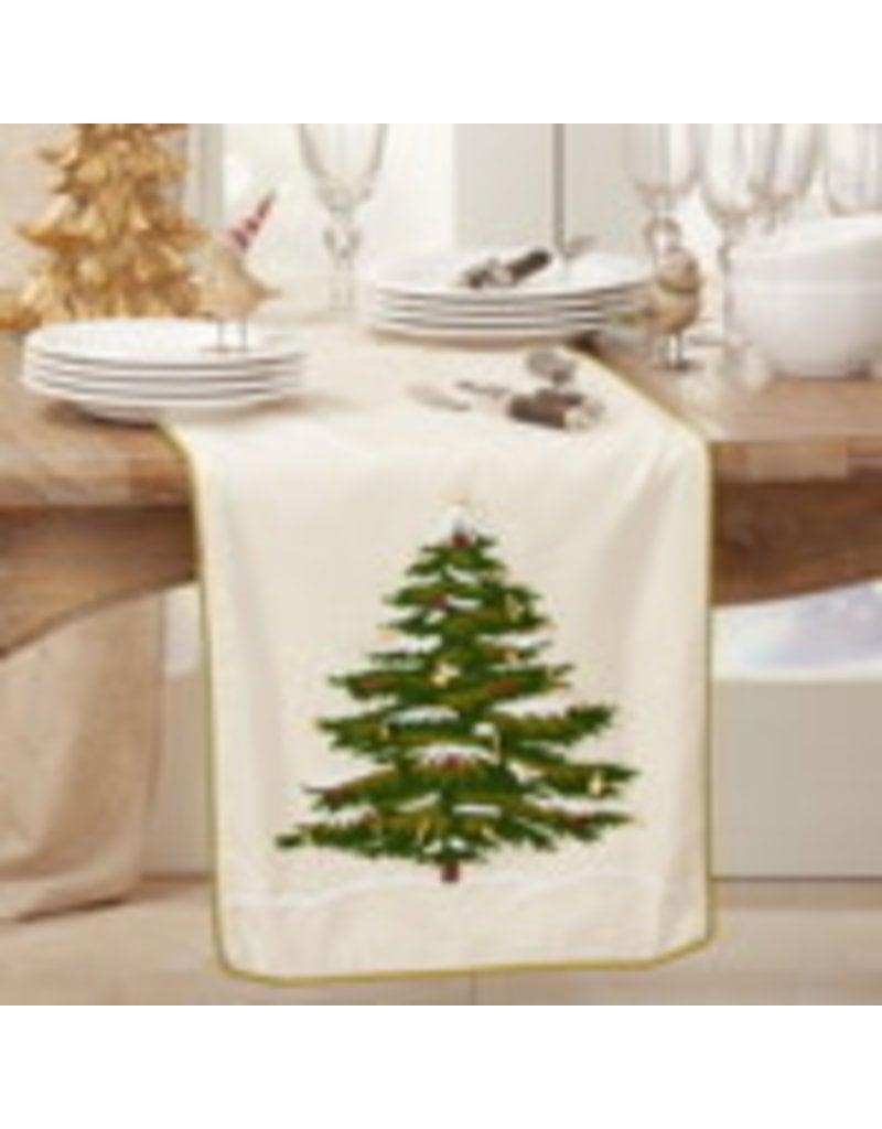 "Embroidered Christmas Tree Runner 18"" - 9159.N1672B"