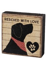 Box Sign - Rescued With Love 103614