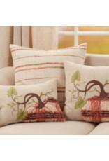 """Plaid Pumpkin Pillow 18"""" Sq - 9520.N18SP"""
