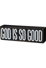 none 104031 box sign GOD IS GOOD
