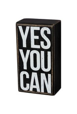 Box Sign - Yes You Can 104054