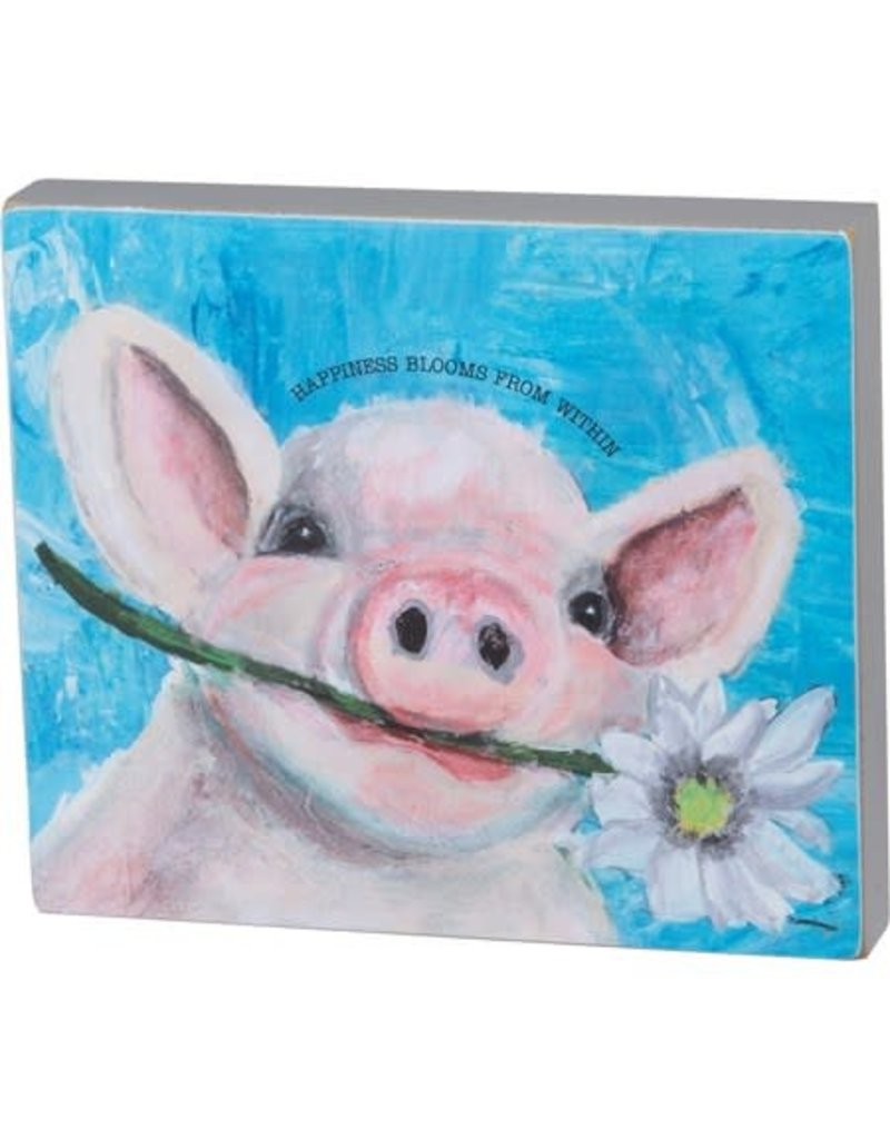 Box Sign - Happiness Blooms 104878