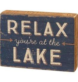 Box Sign - At The Lake 106111