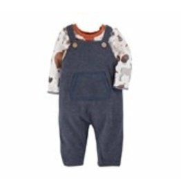 Farm Animals Overall Set 3-6M -11010288
