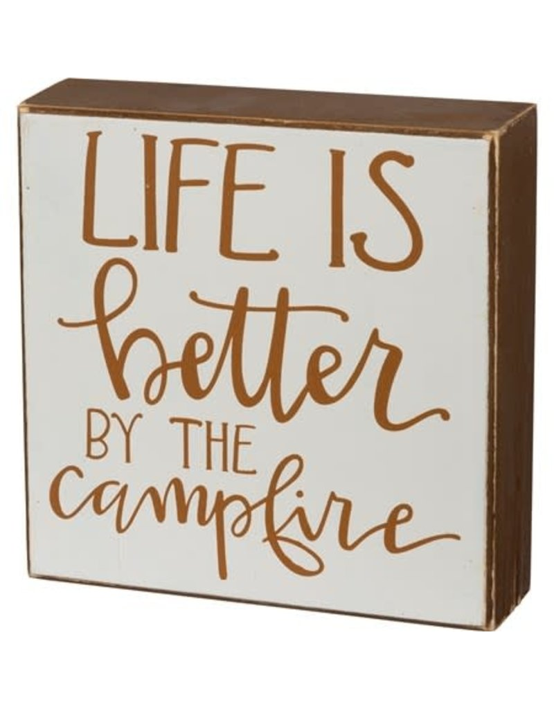 Box Sign - By The Campfire 106136