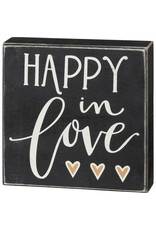 Box Sign - Happy In Love 106142