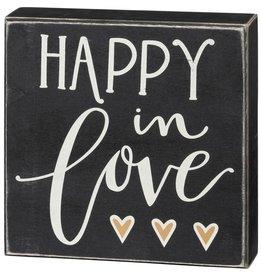 Box Sign - Happy In Love 106142