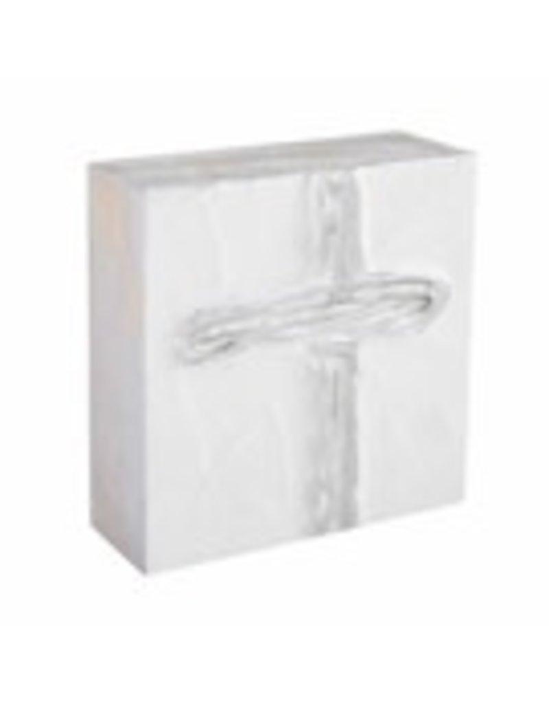 """Silver Cross Block Art 4""""x4"""" - 43400108S"""