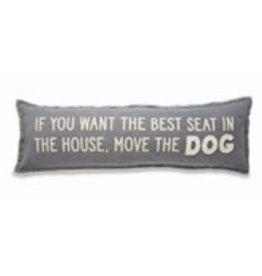 """none Washed Canvas Long Pillow - Move the Dog 11""""x35"""" - 41600064M"""