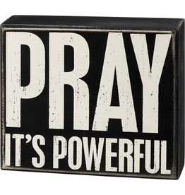 Box Sign - Pray 107439