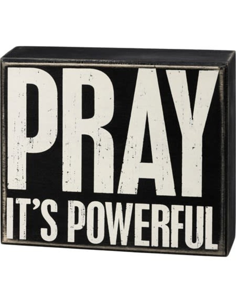 Box Sign - Pray 107439