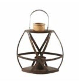 """Rustic Strap Lantern Small 18""""x14"""" - 40320018S"""