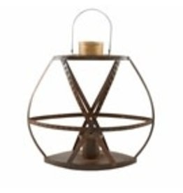 "Rustic Strap Lantern Large 21""x17"" - 40320048L"