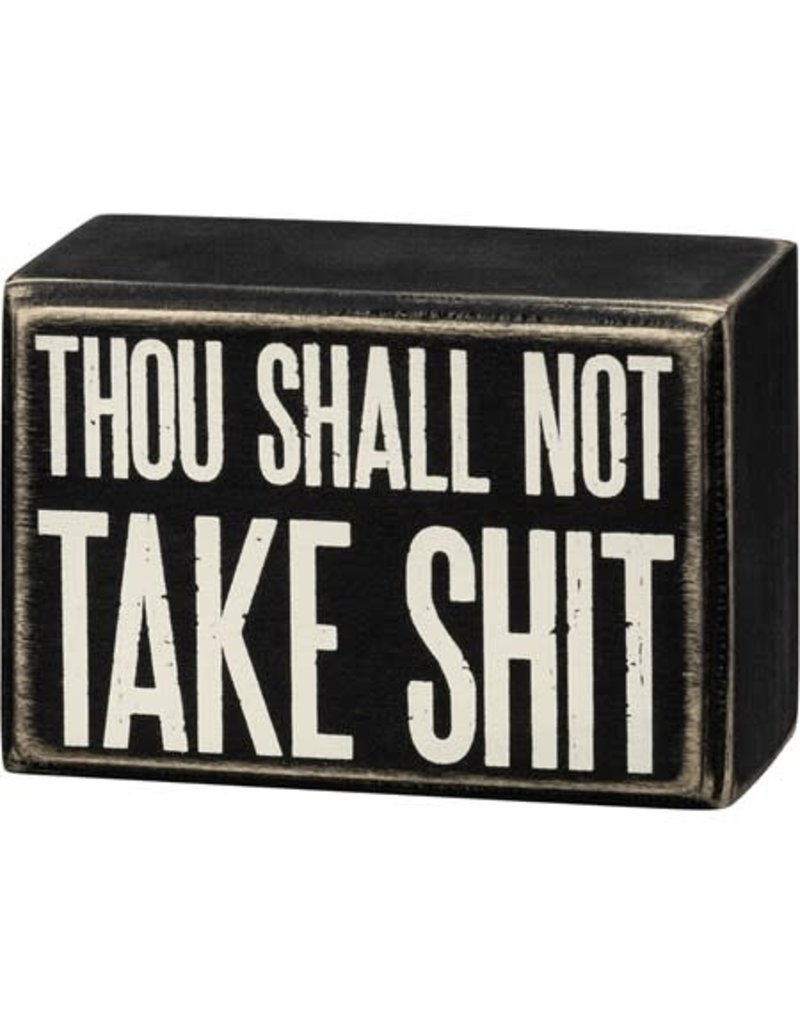 Box Sign - Thou Shall Not 107464