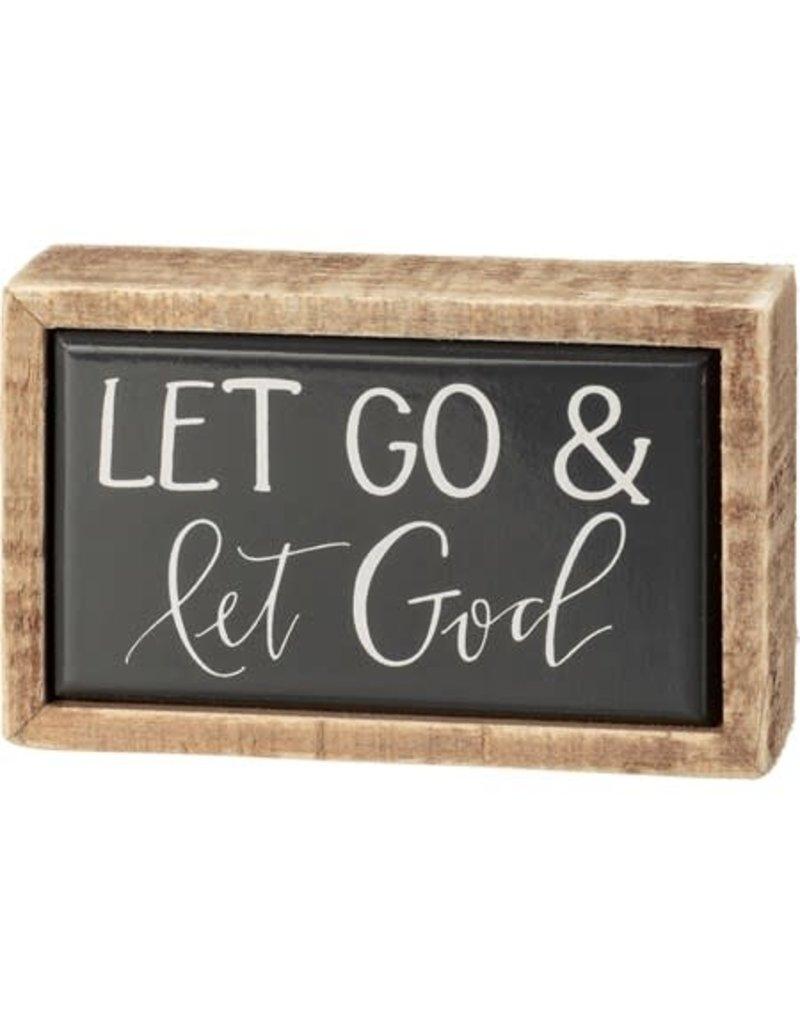 Box Sign - Let God 108308