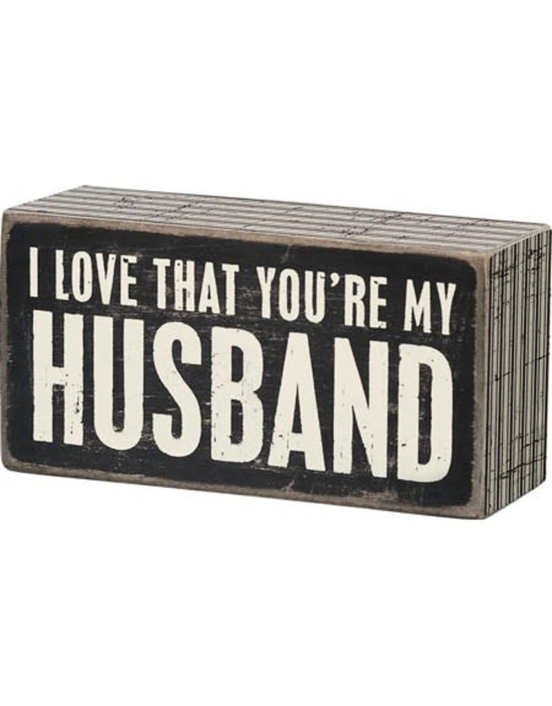 Box Sign - My Husband 20991