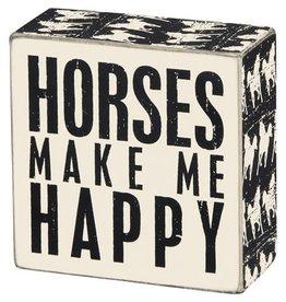 Box Sign - Horses 22212
