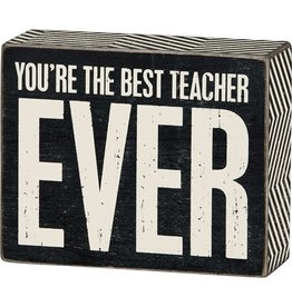 none Box Sign - Best Teacher 23608