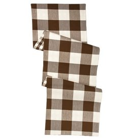 Runner brown buff check 106499