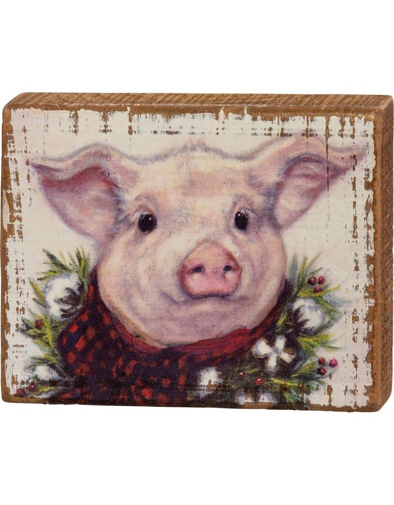Block sign - pig 107744