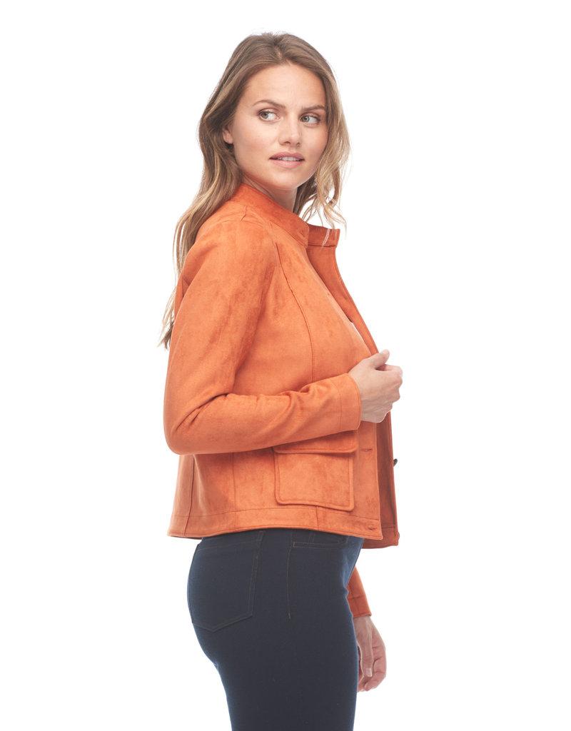FDJ Burnt Orange Faux Suede Jacket