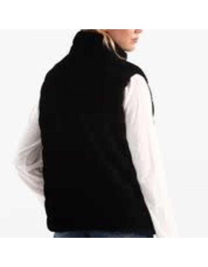 CHARLIE B Black reversible puffer sleveless jacket